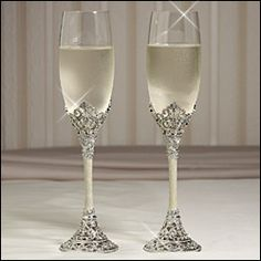 Toasting Flutes Celebration Lt 3penyads Wedding Gles Champagne Engraved