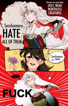 Based/Inspired by this [ Post ] But seriously though, this is all I can think about every time I re-watch Inuyasha Inuyasha Memes, Inuyasha Funny, Inuyasha Fan Art, Anime Couples, Cute Couples, Inuyasha And Sesshomaru, Miroku, Another Anime, Otaku