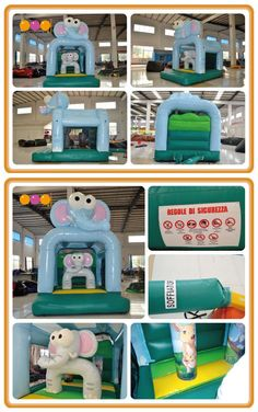 AQ01603(3*4*4.1m/9.84'*13.12'*13.45') So lovely. Welcome to elephant family bouncer home! They are waiting you there.