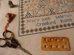 Anne's pretty scissors and thread holder.