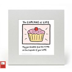 Edward Monkton Fine Art Print - Cupcake of Life ($16) ❤ liked on Polyvore featuring home, home decor, wall art, photo wall art, cupcake wall art and cupcake home decor