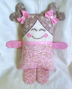Small Sewing Projects, Sewing For Kids, Baby Sewing, Sewing Crafts, Quilt Baby, Animal Masks For Kids, Little Dolly, Fabric Toys, Sewing Pillows