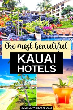 What are the best places to stay in Kauai? Check out these 9 beautiful Kauai hotels, from boutique to family-friendly to grand. #Kauai #Hawaii #luxuryresort #luxuryhotel #hotelreview Best Hotels In Kauai, Kauai Resorts, Best Resorts, Top Hotels, Hotels And Resorts, Hawaii Vacation Tips, Hawaii Travel Guide, Maui Travel, Vacation Spots