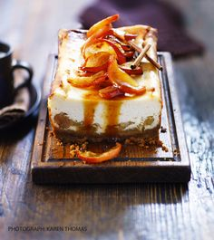 Toffee apple cheesecake is an autumnal sweet treat from our October 2013 issue http://www.sainsburysmagazine.co.uk/recipes/desserts/fruit/item/jo-wheatley-toffee-apple-cheesecake