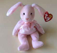 "TY BEANIE BABIES Easter Bunny Rabbit ""HOPPITY"" Stuffed Animal Christmas Kid Gift…"