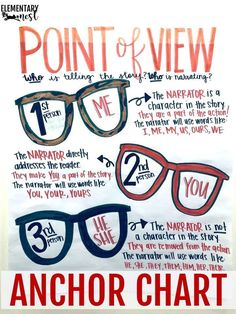 Point of View Teaching Activities and Ideas: Exploring ELA – Elementary Nest Point of View Teaching Activities and Ideas: Exploring ELA – Elementary Nest,Anchor charts Point of View Teaching Activities and Ideas: Exploring ELA. 6th Grade Ela, Third Grade Reading, Middle School Reading, Fourth Grade, 6th Grade Writing, Third Grade Art, Teaching 6th Grade, Second Grade Teacher, Ninth Grade