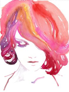 Watercolour Fashion Illustration by Silverridgestudio / Cate Parr <3 / #art #colors