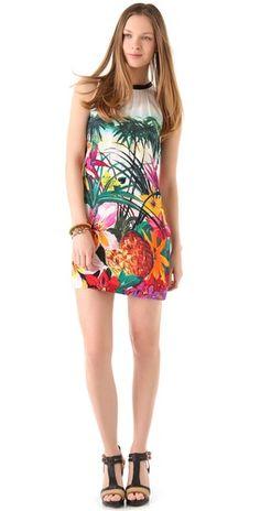"Juicy Couture ""Tropical Print Dress""  floral dress"