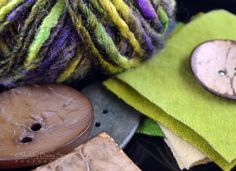 Studio Buttons and Yarn