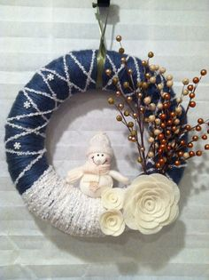 Wreath - very beautifully made. This could be a focal point of your entire Christmas decoration. Then add some more subtle gold, white and yellow to other decors. Fantastic!
