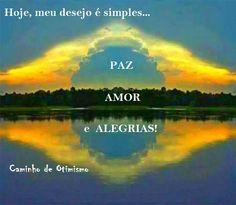 Paz. amor e alegrias