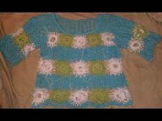 Sommershirt Claudia Filli Crochet Granny # Häkeln mit Yve - YouTube