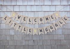 Harry Potter Inspired Baby Shower Decor, Welcome Little Muggles, Burlap Baby Banner, Baby Shower Banner, Harry Potter Burlap Garland Bunting Baby Harry Potter, Harry Potter Nursery, Harry Potter Baby Shower, Harry Potter Theme, Baby Shower Games, Baby Shower Parties, Baby Boy Shower, Office Baby Showers, Burlap Baby