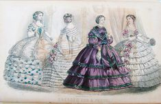 Women's fashion in this time period was extravagant, very feminine and probably very uncomfortable. They wore these amazing hoop skirts or bustle dresses, along with petticoats and corsets. I have always been fascinated with Victorian fashion, it is very beautiful.