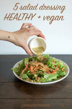 5 healthy homemade salad dressings that are super easy to make, from creamy avocado to spicy peanut, lemony mustard and sweet sour tahini, these dressings might just make your salads dreams come true. Salad Dressing, Healthy Fats, Lazy, Drawer, Spicy, Grains, Salads, Avocado, Protein