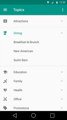 expandable list material design - Google Search