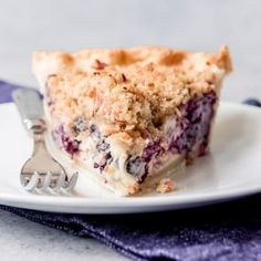 """Juicy fresh blueberries, creamy sour cream custard, buttery streusel crumble topping with chopped pecans, all in a flaky crust - this Blueberry Custard Pie won the """"Pie Most Likely To Bring About World Peace"""" award at our Blueberry Custard Pie, Blueberry Recipes, Blueberry Cake, Easy Blueberry Pie, Pie Crumble, Crumble Topping, Easy Royal Icing Recipe, Chocolate Hazelnut Cake, Chocolate Cupcakes"""
