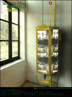 KAGADATO   RUSLAN KAHNOVICH. Design mechanical vintage metal cabinet with stained glass - DIAMONDS 20.  Tiffany Technology & metal construction  ****************************  ОФИЦИАЛЬНЫЙ САЙТ  K A G A D A T O  http://kagadato.wix.com/kagadato  ****************************  Republic of Belarus  Grodno city