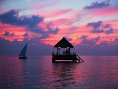 bungalow flottant aux Maldives