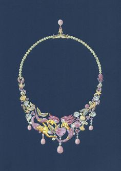 jewellery design tony furion collier sirènes gouaché bijoux/joaillerie