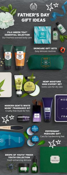 Treat your dad this Fathers Day with our complete collection of gifts for dad. Our collection of Fathers Day gifts features our newly formulated mens skincare body care and mens fragrances like our iconic White Musk for Men. The Body Shop Gifts, Body Shop At Home, Body Shop Skincare, Facial Care, Organic Skin Care, Good Skin, Fathers Day Gifts, Body Care, Box