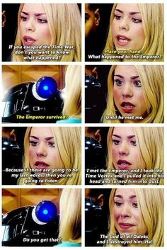 Number 3 least favorite companion. I hate ot when she acts like this!!!!/// ugh I hate it when people people diss my favorite characters/// literally river acts like this all the time and everyone loves her, but rose does because she is scared and it's the worst possible thing?