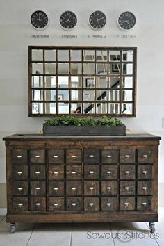 Ana White | Build a Mirror with Hidden Storage - Featuring Sawdust 2 Stitches | Free and Easy DIY Project and Furniture Plans #DIY Easy DIY Ideas, Craft Ideas