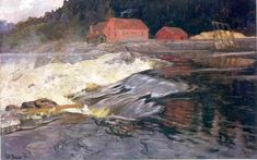 Fritz Thaulow - Waterfalls in Norway,1894