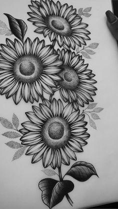 Unique Tattoos, Love Tattoos, Body Art Tattoos, Small Tattoos, Tattoos For Women, Ear Tattoos, Celtic Tattoos, Sunflower Drawing, Sunflower Tattoos