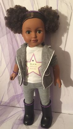 Black Dolls Rock 18 inch LanaDoll (Suit) by LanaDollCreations on Etsy