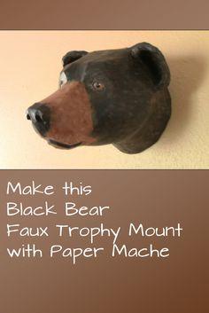 Black Bear Faux Trophy Mount Pattern