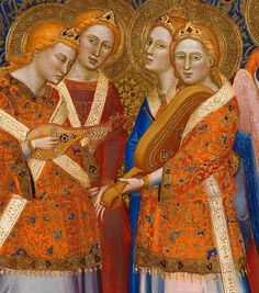 Jacopo di Cione and workshop - The Coronation of the Virgin - Central Main Tier Panel detail