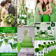 Shades of Green Wedding | #exclusivelyweddings | #weddingcolors