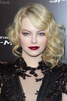 Lady is a Vamp: Best Dark Lips of 2012 - Emma Stone