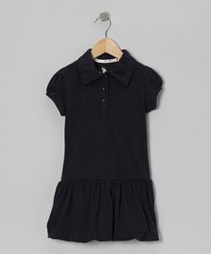 Take a look at this Navy Bubble Polo Dress - Girls by Honor Roll: Girls' Uniforms on @zulily today!