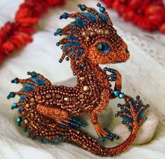 Beautiful beaded dragons by Alena Litvin                              …