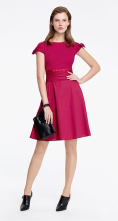 Dual-fabric dress in cotton poplin and jersey - Dresses - Collection - Fall-Winter 2015-16