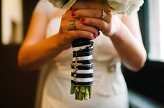 Wrap a Rosary around your Bouquet Handle