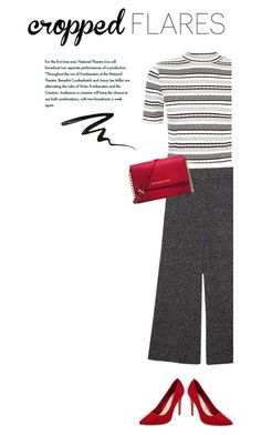 """""""Cropped Flares"""" by deannajudd ❤ liked on Polyvore featuring Michael Kors, Stila, women's clothing, women's fashion, women, female, woman, misses and juniors"""