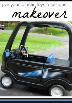 pimpin' our coupe | DIY re-paint of our kids' cozy coupe