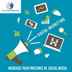 We help you to increase your presence in the social media –SEO India Higherup For more detail visit our website www.seoindiahigherup.com