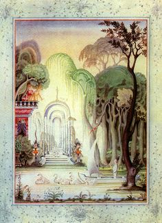 Fairy-tales of Hans Christian Andersen Illustrations by Kay Nielsen - Ole Luk-Oie