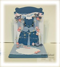 I run out of adjectives to properly gush on Fran's cards. Pop 'n Cuts Dress Form. Wow! stampersblog: Cinderella