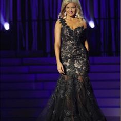 Black Lace Mermaid Dress by Mac Douglas Size 6 | measurements 34 bust - 26 waist - 39 hips | Fitted | Has room in hips | invasive zipper | 5'6 and wore 5 inch heels | mermaid cut allows height to have some diversity for taller or shorter woman | worn at state pageant Mac Douglas Dresses Prom