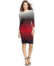Lauren Ralph Lauren Striped Sweater Dress