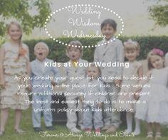 Wedding advice - kids at a wedding, wedding etiquette