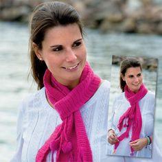 Flot hæklet tørklæde i pink - Hjemmet DK