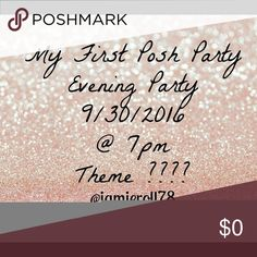 My first posh party Comment below for me to pick your closet for host pick!!🎉🎉💋💋💋 Other