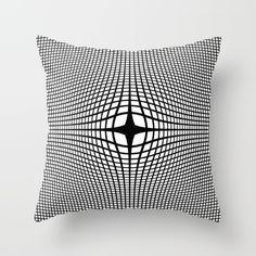 Black On White Convex Throw Pillow by Moonshine Paradise #society6 #blackandwhite #convex #opticalillusion #throwpillow