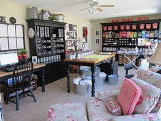 Beautiful craft room.